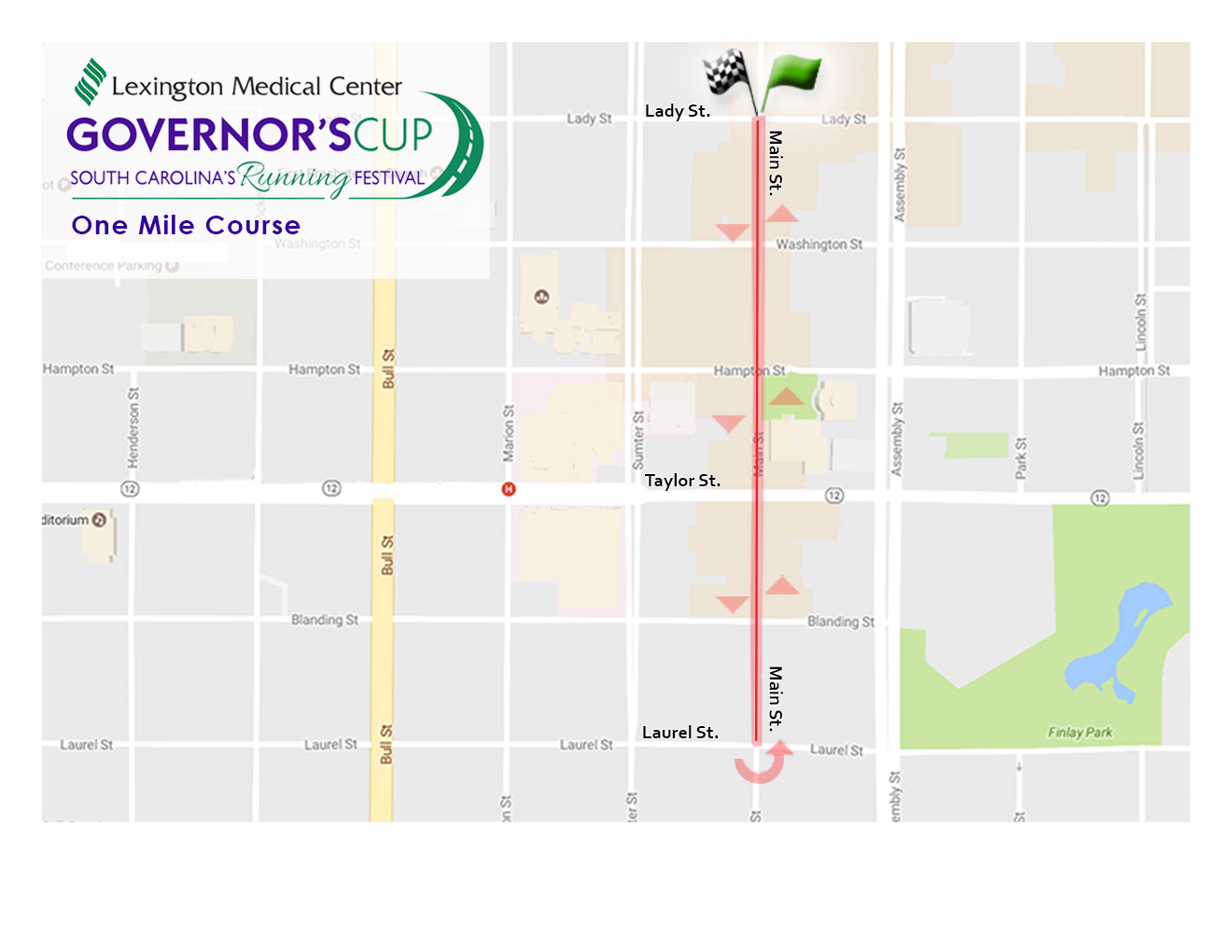 LMC Governors Cup Race - Map of usc columbia